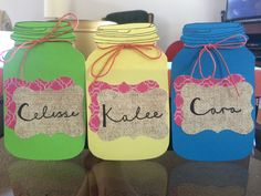 Door tags done! Now I just need the rest of the names!