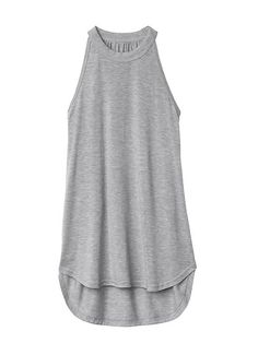 e1feb19369f64 High Neck Rib Tank Product Image Workout Tops For Women