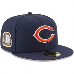 a626523f3 Men s Chicago Bears New Era Navy Title Trim 59FIFTY Fitted Hat