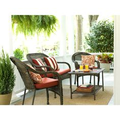 Shop Garden Treasures Severson Textured Black Steel Woven Seat Patio Chair  At Lowes.com