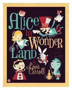 Alice in Wonderland Vintage Poster