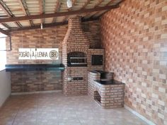 Fogão a Lenha, Forno e Churrasqueira Brumadinho MG Parrilla Exterior, Backyard Kitchen, Old Kitchen, Home Health, Barbacoa, Sweet Home, House Design, Home Decor, Masonry Bbq