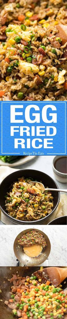 Use Cali rice. A super quick Egg Fried Rice made with frozen veggies and egg. It all comes down to the Sauce! Rice Recipes, Asian Recipes, Chicken Recipes, Dinner Recipes, Cooking Recipes, Healthy Recipes, Chinese Recipes, Kebabs, Rice Dishes