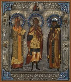 Sts. Athanasios the Patriarch, Arefo the Martyr, and Tsar Erezvon Russian Orthodox icon