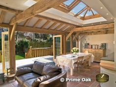 Lantern roof and oak doors - stunning