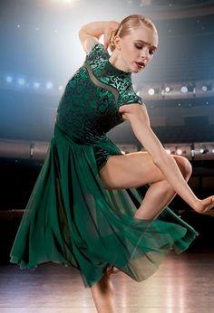 efe1c677bd8f Damask Leotard with M-Slit Skirt. Lyrical CostumesBallet CostumesCute Dance  ...