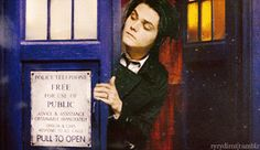 Ok idk if I'm mistaken but it looks like my Gerard is in a blue police call box aka the FRICKIN TARDIS