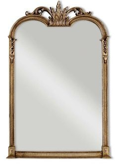 HORCHOW / NIEMAN MARCUS Jacqueline Champagne Silver Leaf Vanity or Mantle Mirror #Uttermost #Traditional