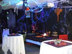 Image result for black tarps for halloween