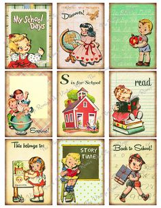 Back to School Printable Instant Download by TheVintageRemix