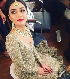 First look - the beautiful bride Sahar Zafar getting prepped for the big day #zaftap #couture #elangirls #couture #elan
