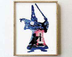in the stone counted cross stitch pattern disney characters magic silhouette cartoon - Cross Disney Cross Stitch Patterns, Modern Cross Stitch Patterns, Counted Cross Stitch Patterns, Cross Stitch Charts, Pixel Art, Stitch Movie, Pattern Floral, Sword In The Stone, Crochet Disney