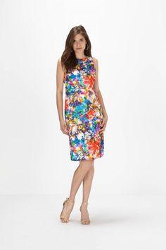 Lace Floral Overlay Sheath Dress - Dresses - Shop By: - Clothing | Melanie Lyne