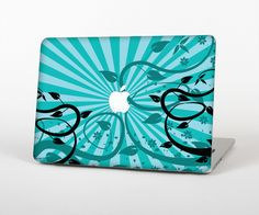 """The Green Rays with Vines Skin Set for the Apple MacBook Pro 15"""" with Retina Display from Design Skinz"""
