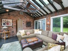 No need for major light fixtures: Skylights and large windows allow for plenty of natural lighting.