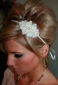 Cinderella Rhinestone Headband Wedding Headband by BrassLotus, $36.95
