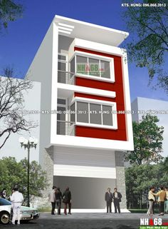 u nhà ph? 3 t?ng hi?i-- Thi? House Outer Design, House Front Design, Small House Design, 3 Storey House Design, Duplex House Design, Facade Design, Exterior Design, Architecture Design, Classic House Exterior