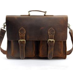 9c76e5e8e7 Men s Handmade Vintage Leather Briefcase   Leather Messenger Bag   13