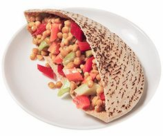 Mix canned lentils with fresh vegetables and toss with light Italian salad dressing to make this super easy sandwich.