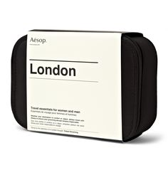<A href='http://www.mrporter.com/Shop/Designers/Aesop'>Aesop</a>'s Parsley Seed range offers antioxidant protection, and this travel kit includes a range of the products plus other essentials such at the Classic Shampoo and Conditioner and a mouthwash. Each will fit in your hand luggage so there's no need to go digging through your suitcase when you reach the hotel.<br><br> - <b>[Classic Shampoo id753782]</b> contains Peppermint, Juniper and Tea Tree extracts to thoroughly cleanse hair…