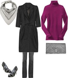 """""""Black Coat for True Winter"""" by yanmeihe on Polyvore"""