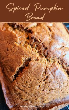 Perfectly spiced with cinnamon, cloves, and nutmeg this Spiced Pumpkin Bread recipe embraces the aroma and flavors of fall! Rich dense texture and complex flavors will delight everyone!