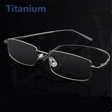 d84aa555878 Memory Titanium Glasses Men Women Spectacle Eyeglasses Frame Business Eye  Glasses Myopia Optical Glasses(China