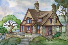 Eplans Shingle House Plan - Ready to Relax - 3155 Square Feet and 4 Bedrooms from Eplans - House Plan Code ( I think this would pretty much be perfect. Cottage Floor Plans, Cottage House Plans, Small House Plans, Cottage Homes, House Floor Plans, Cottage Ideas, Cottage Living, Victorian House Plans, Craftsman Style House Plans