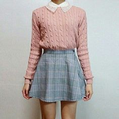 A very 'Betty Cooper' outfit Kawaii Fashion, Cute Fashion, Look Fashion, Korean Fashion, Fashion Outfits, Fashion Trends, New Girl Outfits, Fall Fashion, Pink Outfits