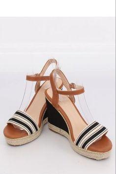 Ψηλοτάκουνες εσπαντρίγιες με ρίγες - Μαύρο Sandals, Shoes, Fashion, Slide Sandals, Moda, Shoes Sandals, Zapatos, Shoes Outlet, Fashion Styles