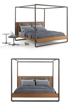 Canopy #bed VOLARE by Poltrona Frau   #design Roberto Lazzeroni @poltronafrau