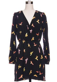 Bird Dress in black.
