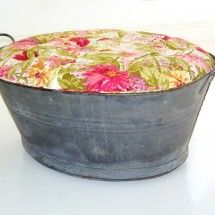 ottoman from old water tub