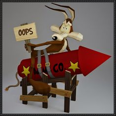 Looney Tunes - Wile E. Coyote Free Papercraft Download - http://www.papercraftsquare.com/looney-tunes-wile-e-coyote-free-papercraft-download.html
