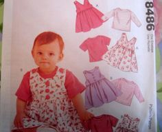 McCALLS Sewing Pattern 8486 - Infant JUMPER AND T-SHIRT