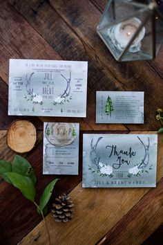 Woodland Wedding Invitation | Watercolor