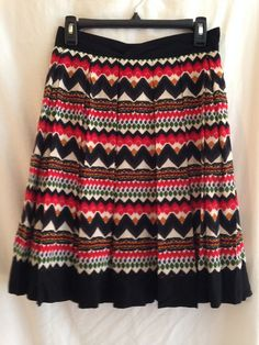 Fei Denpasar Anthropologie Pleated Multi Color Skirt size 4 #FEI #FullSkirt