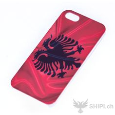 IPhone 5 Handy Hülle mit Albanien Flagge - http://shipi.ch/shqiptare-shop/artikel-mit-albanischer-flagge/iphone-5-handy-cover-mit-albanien-flagge/ http://shipi.ch/wp-content/uploads/2014/05/iPhone-5-Hülle-mit-albanien-flagge.jpg