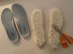 Postup na výrobu termo stielok/ vložiek do topánok