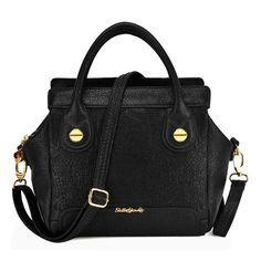 Sally Young Patchwork Georgia Winged Handheld Bag - Black