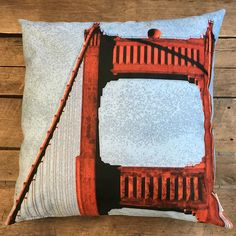 """Golden Gate"" / San Francisco by Taiga Colors Holidays In Finland, Golden Gate, San Francisco, Throw Pillows, Interior Design, Colors, Pattern, Nest Design, Toss Pillows"