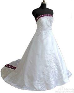 FairOnly Chapel Train Wedding Dress Bridal Gown Size:6 8 10 12 14 16 18+Custom