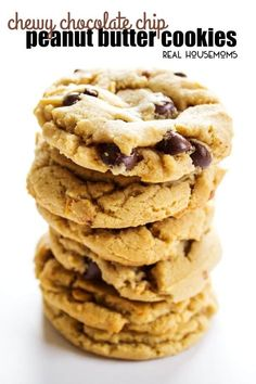 Chewy Chocolate Chip Peanut Butter Cookies