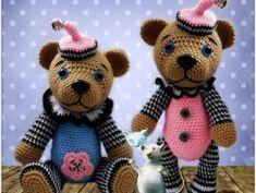 návod : medvídek Pierot Teddy Bear, Animals, Animais, Animales, Animaux, Animal, Dieren