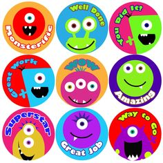 <p>These colourful Monster Faces Praise Words reward stickers are perfect to make a big impression on young learners and can be used with any Reward System.</p>