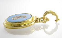 Elizabeth-Locke-19kt-Yellow-Gold-Turquoise-Pendant