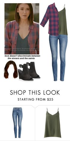 """Elena Gilbert - tvd / the vampire diaries"" by shadyannon ❤ liked on Polyvore featuring H&M, Jigsaw and Schutz"