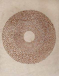 'Mandala 2007 James Blackwell Proteus stalk fluff on Japanese paper Tantra Art, Japanese Paper, Gcse Art, Mark Making, Sacred Geometry, Textures Patterns, Printmaking, Abstract Art, Abstract Sculpture