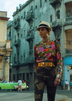 Chanel Show in Cuba - a model walking in the show.