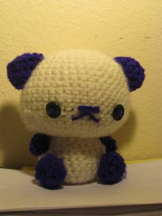 Amigurumi Bear [:  •  Free tutorial with pictures on how to make a panda plushie in under 120 minutes